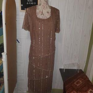 Midnight Velvet sequin dress. Midi-long plus 2x
